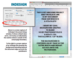 indesign bleed set-up